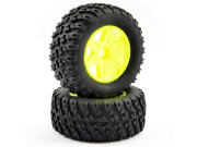 ftx comet desert buggy front mounted tyre & wheel yellow FTX