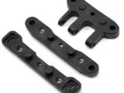 Hobao 90003 Hyper ss/cage front/rear lower plastic arm holder set - c pl