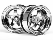 Hpi 3591 jante work meister s1 26mm chrome (deport 3mm)