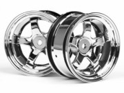 Hpi 3592 jante work meister s1 26mm chrome (deport 6mm)