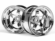 Hpi 3593 jante work meister s1 26mm chrome (deport 9mm)