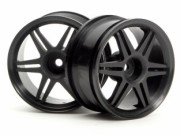 Hpi 87003801 jante 12 spoke corsa  black 26mm (deport 3mm) (la paire)