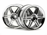 Hpi 87003802 jante 12 spoke corsa  chrome 26mm (deport 3mm)