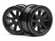 Hpi 3806 jante vintage 8 spoke 26mm black