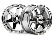 Hpi 87003842 jante te37  26mm chrome (deport 3mm)