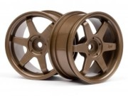 Hpi 87003843 jante te37  26mm bronze (deport 3mm)