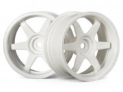 Hpi 87003845 jante te37  26mm white (deport 6mm)