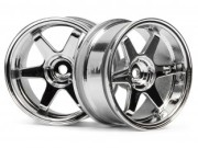 Hpi 87003847 jante te37  26mm chrome (deport 6mm)