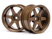Hpi 87003848 jante te37  26mm bronze (deport 6mm)