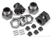 Hpi 102530 set hexagones alu gris 24mm s4
