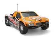 Hpi 103416 carrosserie maxxis short course 1/10 peinte orange noire