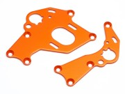 Hpi 106838 support moteur d/g orange