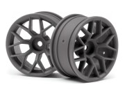 Hpi 8700112812 jantes gunmetal 26mm (deport 6mm) s2