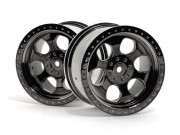 Hpi 3161 jante 6b noir chrome 83x56mm s2
