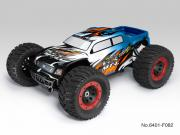 Thunder Tiger T6401F82 Monster 1/8 brushless MT-4 G3 + radio 2.4Ghz + Brushless 150A + vario (bleu)