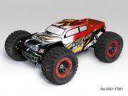Thunder Tiger T6401F81 Monster 1/8 brushless MT-4 G3 + radio 2.4Ghz + Brushless 150A + vario (Rouge)