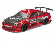 Voiture RC Drift Strada DC 1/10 4x4 Brushless Rouge Complète