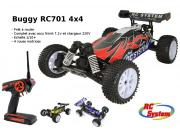 buggy rc701 tracker 4x4 brushed rtr (moteur+vario+radio 2.4+accu+chargeur)