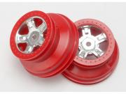 Traxxas 7072A jantes avant sct chromees satin rouge 1.4 exter / 1.8 inter (2)