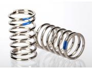 Traxxas 7245A spring, shock (nickel finish) (gtr) (2.925 rate, blue) (1 pair)