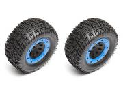 Team Associated 25770 qualifier rival mt wheels & tyres - mounted