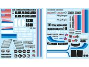 Team Associated AS6866 rc10 classic decal sheet