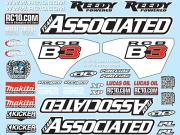 Team Associated 81270 decal sheet RC8B3