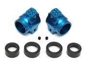 Team Associated 91548 aluminium rear hubs blue B5/B5m