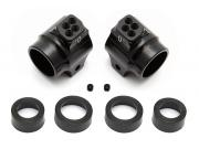 Team Associated 91549 aluminium rear hubs black B5/B5m