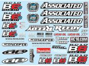 Team Associated 91742 decal sheet B6 / B6d