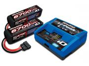 Pack accus et chargeur XMAXX (2 accus 4S 6700mah +chargeur) Traxxas