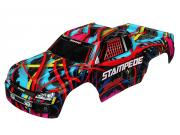 Traxxas 3649 carrosserie stampede hawaiian graphics peinte et decoree