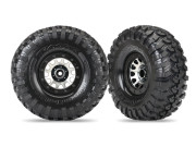 Traxxas 8172 roues montees collees jantes method 2,2 chromees noire (x2) TRX-4 Sport
