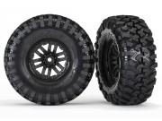 Traxxas 8272 Roues montees collees sur jantes TRX-4 (x2)