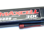 Batterie lipo 2S 7.4v 3000mah 30C hardcase pour voiture RC Maxcell