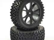 Fastrax 1/10th mounted cuboid buggy front tyres 10-spoke
