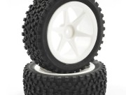Fastrax 1/10th mounted cuboid buggy front tyres 6-spoke Fastrax