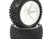 Fastrax 1/10th mounted cuboid buggy rear tyres 6-spoke Fastrax