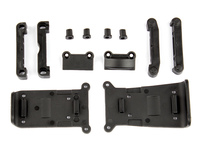 Team Associated 21501 associated reflex 14b/14t skid plates and arm mounts set
