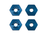 Team Associated 21562 team associated reflex 14b/14t ft wheel hexes blue alum. (x4)