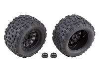 Team Associated 25841 team associated rival mt10 blk method wheels/tyres mounted