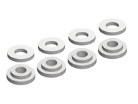 Corally C-00180-078 Shock body insert washer composite 1 set (4+4pcs)
