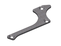 Corally C-00180-272 Suspension arm stiffener a lower front right graphite 1.5mm 1 pc