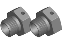 Corally C-00180-329 Wheel hex adapter wide rtr aluminum 2 pcs