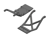 Corally C-00250-021 Skid plates fr/re 1 set Triton