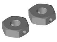 Corally C-00250-078 Wheel hex adapter rear aluminum 2 pcs Triton