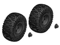 Corally C-00250-092-B Tire and rim set truck black rims 1 pair Triton