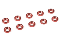 Corally C-31205 Team corally aluminium washer for m3 flat head screws od=8mm red 10 pcs