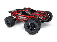 Traxxas 67064-1-RED Traxxas Rustler 4x4 1/10 brushed rouge