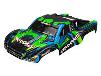 Traxxas 6844X carrosserie slash 4x4 peinte et decoree verte